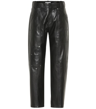 Chloé - High-rise cropped leather pants - mytheresa.com