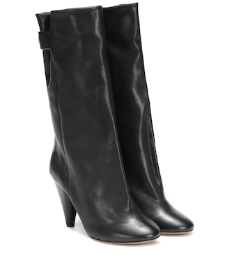 Isabel Marant - Lakfee leather ankle boots - mytheresa.com
