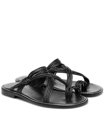 Loewe - Paula's Ibiza leather sandals - mytheresa.com