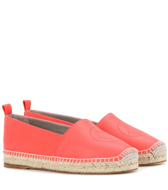 Anya Hindmarch - Smiley leather espadrilles - mytheresa.com