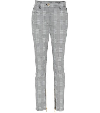 Balmain - Checked stretch cotton pants - mytheresa.com