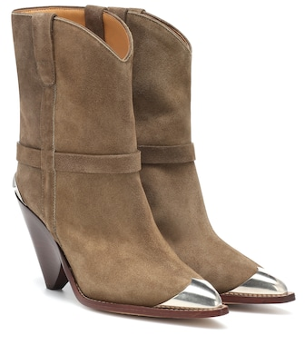 Isabel Marant - Lamsy suede ankle boots - mytheresa.com