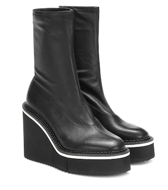 Clergerie - Bliss leather platform ankle boots - mytheresa.com