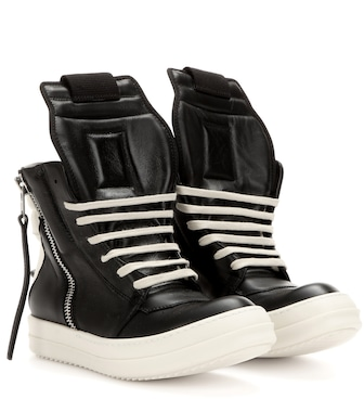 Rick Owens - Leather high-top sneakers - mytheresa.com