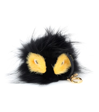 Fendi - Bag Bugs charm with fox, mink and rabbit fur - mytheresa.com