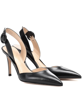 Gianvito Rossi - Exclusive to mytheresa.com – Leather slingback pumps - mytheresa.com