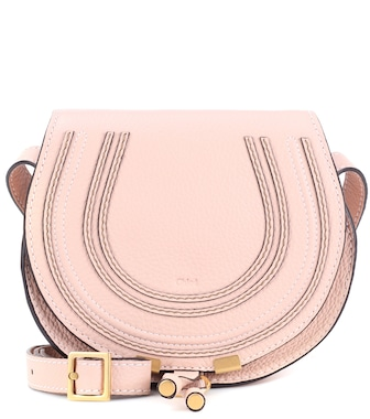 Chloé - Marcie Small leather shoulder bag - mytheresa.com