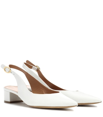 Mansur Gavriel - Leather slingback pumps - mytheresa.com