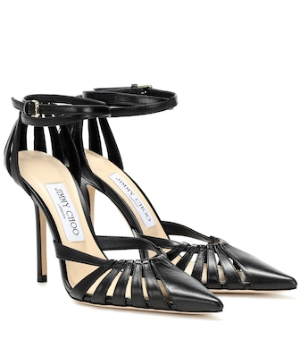 Jimmy Choo - Travis 100 leather pumps - mytheresa.com