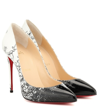 Christian Louboutin - Esclusiva per Mytheresa - Pumps Pigalle Follies 100 in vernice stampata - mytheresa.com