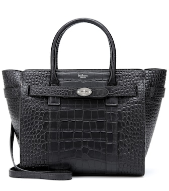 Mulberry - Bayswater Small croc-effect leather tote - mytheresa.com