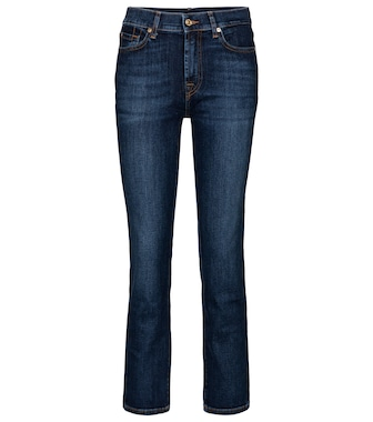 7 For All Mankind - The Straight Crop mid-rise jeans - mytheresa.com