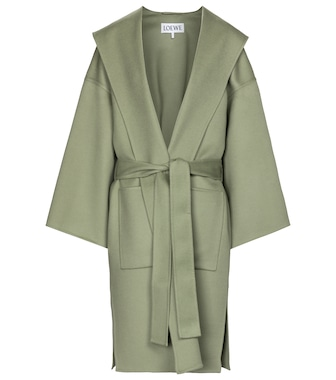 Loewe - Belted wool-blend coat - mytheresa.com