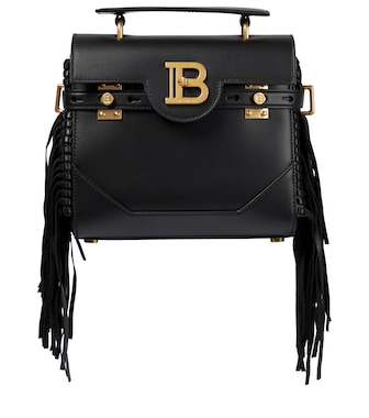 Balmain - B-Buzz 23 leather shoulder bag - mytheresa.com