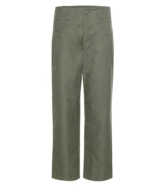 Isabel Marant, Étoile - Isaac cotton and linen cropped trousers - mytheresa.com