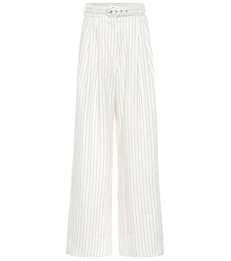 Zimmermann - Corsage striped linen pants - mytheresa.com