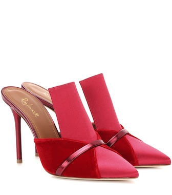 Malone Souliers - Mules Danielle 100 aus Samt und Satin - mytheresa.com