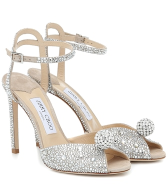 Jimmy Choo - Sacora 100 embellished sandals - mytheresa.com