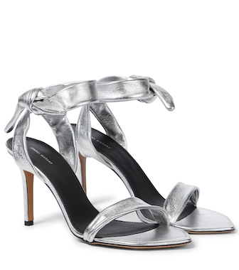 Isabel Marant - Arka metallic leather sandals - mytheresa.com