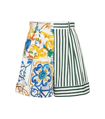 Dolce & Gabbana - Patchworked cotton shorts - mytheresa.com