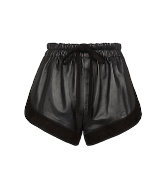 Saint Laurent - Short en cuir et daim - mytheresa.com