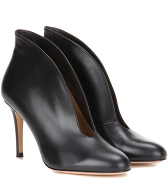Gianvito Rossi - Vamp leather ankle boots - mytheresa.com