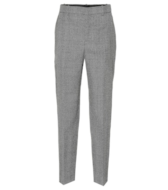 Balenciaga - Checked wool pants - mytheresa.com