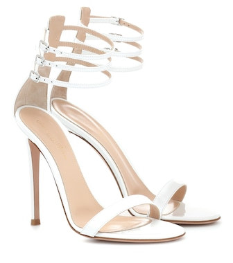 Gianvito Rossi - Lacey 110 patent leather sandals - mytheresa.com