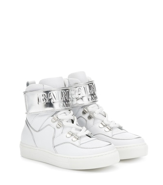 Balmain Kids - Leather sneakers - mytheresa.com