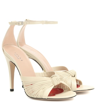 Gucci - Crawford leather sandals - mytheresa.com