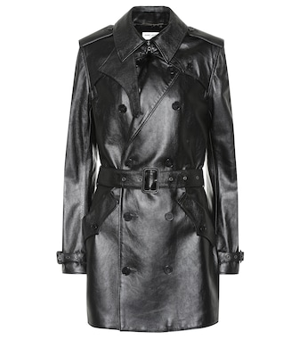 Saint Laurent - Leather trench coat - mytheresa.com
