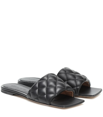 Bottega Veneta - Padded leather sandals - mytheresa.com