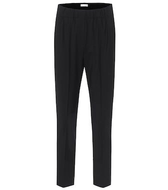 Brunello Cucinelli - High-rise wool-blend slim pants - mytheresa.com