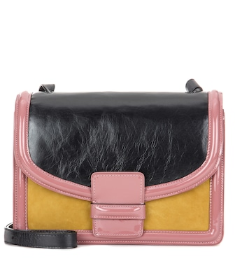 Dries Van Noten - Leather and suede shoulder bag - mytheresa.com