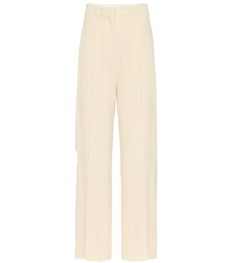 Victoria Beckham - High-rise stretch crêpe pants - mytheresa.com