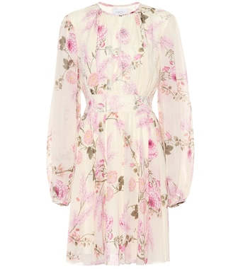 Giambattista Valli - Pleated floral silk minidress - mytheresa.com