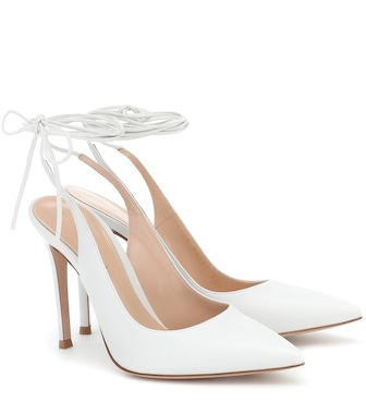 Gianvito Rossi - Irene 105 leather pumps - mytheresa.com