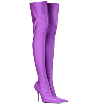 Balenciaga - Knife over-the-knee-boots - mytheresa.com