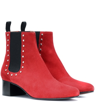 AlexaChung - Suede ankle boots - mytheresa.com
