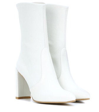Stuart Weitzman - The Clinger leather ankle boots - mytheresa.com