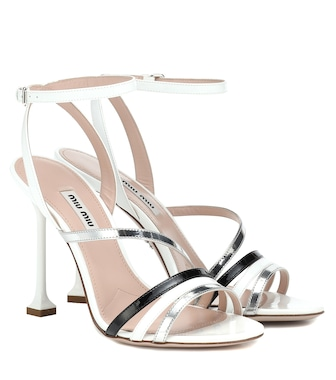 Miu Miu - Patent leather sandals - mytheresa.com