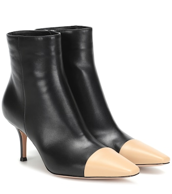 Gianvito Rossi - Exclusive to Mytheresa – Lucy leather ankle boots - mytheresa.com