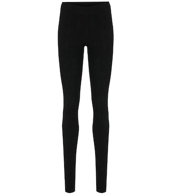 Stouls - Carolyn suede leggings - mytheresa.com