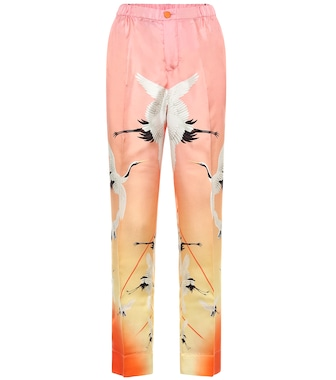 F.R.S For Restless Sleepers - Etere printed silk pajama pants - mytheresa.com