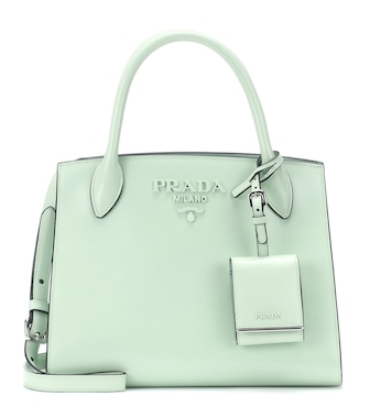 Prada - Monochrome leather tote - mytheresa.com