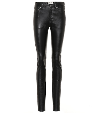 Saint Laurent - Leather skinny pants - mytheresa.com