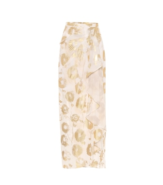 Halpern - Floral cotton-voile wrap skirt - mytheresa.com