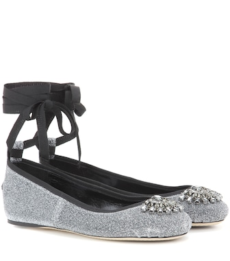 Jimmy Choo - Grace Flat embellished leather ballerinas - mytheresa.com