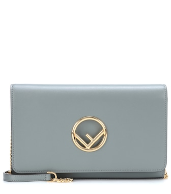 Fendi - Wallet on Chain leather shoulder bag - mytheresa.com