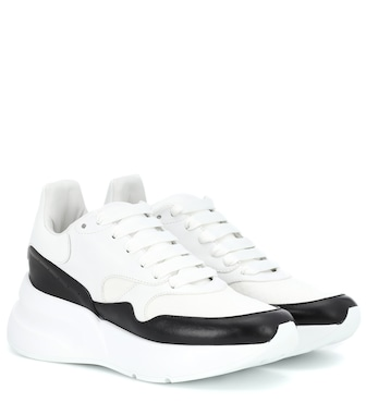 Alexander McQueen - Leather platform sneakers - mytheresa.com